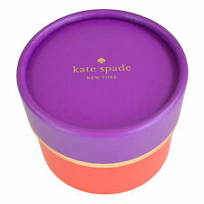 KATE SPADE Purple & Red Round Circular Jewelry Gift Box NEW