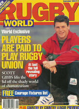 RUGBY WORLD MAGAZINE SEPTEMBER 1994 - ITALY, BRISTOL, COVENTRY, TREORCHY, NEATH