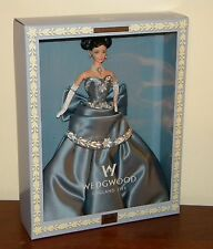 1999 Wedgwood Barbie Doll Blue Dress Gown & Cameo NRFB #25641 Limited Edition