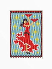 Flamenco Dancer~Beaded Banner Pattern