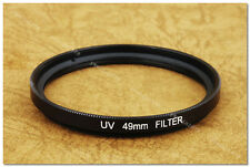 49mm Clear UV Slim Filter Canon Nikon Pentax Minolta Olympus 7sII 35SP Auto S3