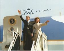 Hand Signed 8x10 photo JIMMY CARTER & ROSALYNN CARTER - USA PRESIDENT + my COA