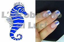 20 AUTOCOLLANTS ONGLES HIPPOCAMPE BLEU MANUCURE NAILS ART STICKERS DèCORATION