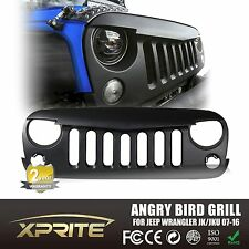 Front Matte Black Angry Bird Grille Grid Grill for Jeep Wrangler Sport JK 07-16