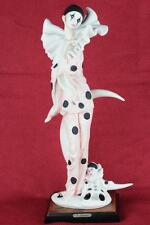 LARGE 1990 Giuseppe Armani 0741C LADY PIERROT CLOWN Limited Ed. Figurine Italy