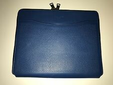NWT $150  COACH F65200 PERFORATED LEATHER TECH CASE PORTFOLIO ZIP AROUND BLUE