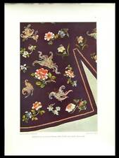 BRODERIE DE SOIE, CHINE -1925- PHOTOLITHOGRAPHIE,