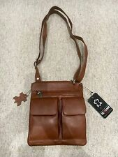 Leather Men's Crossbody/Shoulder Messenger Brown Bag