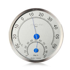 Stainless Steel Case Thermometer Hygrometer Indoor House Outdoor Weather Meter