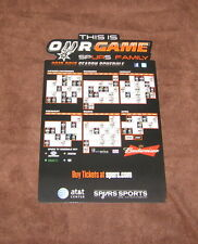 NEW NBA SAN ANTONIO SPURS 2012-2013 BASKETBALL SEASON SCHEDULE CALENDAR