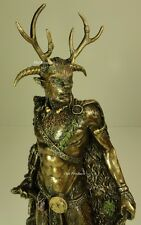 CERNUNNOS CELTIC POLYTHEISM HORNED GOD  Statue Sculpture Antique Bronze Finish