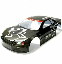 H020G 1/10 Scale Drift On Road Touring Car Body Cover Shell RC Black Spoiler