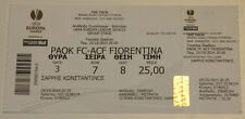 Ticket for collectors EL PAOK Thessaloniki - ACF Fiorentina 2014 Greece Italy