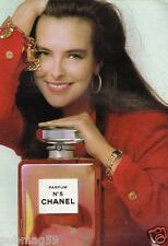 Publicité advertising 1987 Parfum N°5 Chanel avec Carole Bouquet