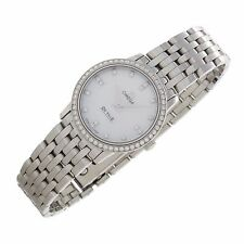 Omega DeVille MOP Factory Diamonds Stainless Swiss quartz ladies fine watch