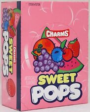 Charms Sweet Pops Suckers 48 ct Candy Flat Pop Lollipops Bulk Candies Lollipop