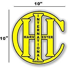 "10"" INTERNATIONAL IH YELLOW - HIT AND MISS GAS ENGINE TRACTOR STICKER"