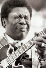 B.B. King Poster, Playing Guitar, Blues Music