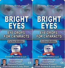 Ethos Bright Eyes NAC Eye Drops - Natural Treatment for Cataracts 2 Boxes 20ml