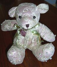 Victorian Bear -- TJ Collection - Cherished Memories - Lace Covered Satin  NEW!