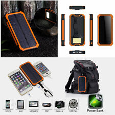 100000mAh Portable Waterproof Chargeur USB solaire Power Bank for Mobile Phone