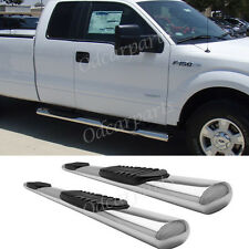 """09-13 Ford F150 Super/Extended Cab 4"""" Oval S/S Side Step Nerf Bar Running Board"""