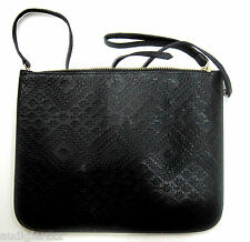 Warehouse Textured Black Clutch Bag
