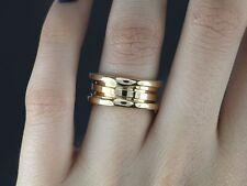 $1,950 Bvlgari 18K Yellow Gold Bulgari B.Zero1 3 Row Wedding Band Ring #52 Sz 6