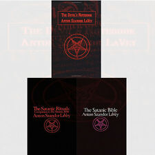 Anton LaVey Collection 3 Books Set Satanic Bible ,Satanic Rituals Paperback, New