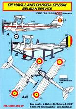 KORA Models Decals 1/72 DE HAVILLAND DH.60 IN BELGIAN SERVICE with Resin Wheels