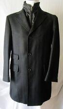 FACIS CAPPOTTO Coat TG.50R LANA, GILET INTERNO, Colore NERO Cod.S
