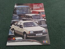 November 1984 VAUXHALL DIESEL CARS Astra Cavalier Carlton - UK BROCHURE - V6095
