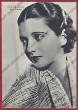 KAY FRANCIS 05 ATTRICE ACTRESS CINEMA MOVIE USA Cartolina NON FOTOGRAFICA 1938