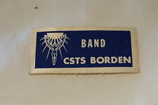 Canadian Army Cadet Band CSTS Camp Borden Patch