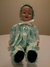 Vintage Antique Baby Doll And Gown 1940s  (??)