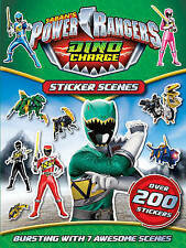 NEW  POWER RANGERS  STICKER SCENES over 200 STICKERS  DINO CHARGE 7 SCENES