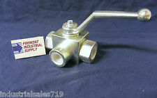 "Hydraulic Selector valve manually operated 3 way 1/2"" NPT Italian import"