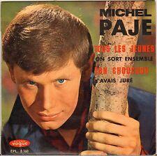 """MICHEL PAJE """"TOUT LES JEUNES"""" 60'S EP VOGUE 8160"""