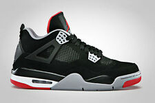 2012 Nike Air Jordan IV 4 Retro SZ 9 Black Cement Fire Red BRED OG 308497-089