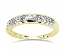 Double Row! 100% 10K Yellow Gold Micro-Pave Diamond Band - Stackable .10ct