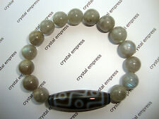 FENG SHUI - 9 EYE DZI WITH 10MM LABRADORITE