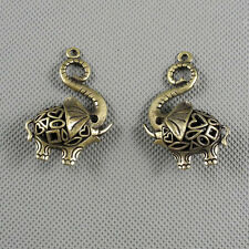 1x Jewelry Making Pendant Vintage Retro Findings Charms A3150 Hollow Elephant