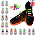 UK Easy No Tie Elastic Shoe Lace Silicone Trainers Shoes Adult Kids Shoelaces