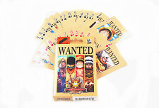 Anime One Piece Wanted Dead Or Alive Playing Cards Deck Poker Toy New In Box