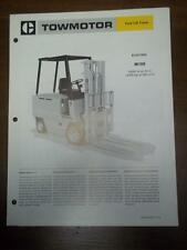 Caterpillar Lift Truck Brochure~M100 Electric Fork Lift~Specification/Data Sheet
