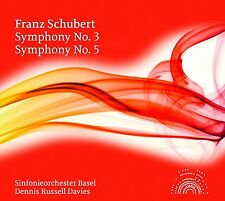 DENNIS RUSSELL DAVIES/SO BASEL - SINFONIEN 3+5  CD NEU FRANZ SCHUBERT
