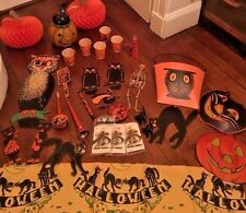 Huge Lot Vintage Halloween Decorations Kirchhof Luhrs Beistle 1920's 1930's