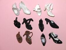 """Tonner - LOT of 6 Pair 16"""" Tyler Wentworth Fashion Doll SHOES"""