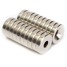 20x Strong Countersunk Ring 12 x 3mm Magnets Hole 4mm Rare Earth Neodymium N50