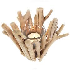 single driftwood tealight candle holder 13cm tall CH_40201B